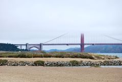The Golden Gate and the beach Royalty Free Stock Photography