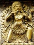 Golden gate Bhaktapur detail Royalty Free Stock Photography