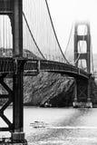 Golden Gate in bianco e nero Fotografie Stock Libere da Diritti