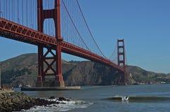 Golden Gate-Brücke-Geck, der mein Fahrt-San Francisco Landscapes ist Stockbild