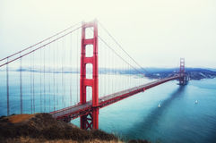 Golden gate bride full royalty free stock photo