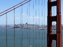 Golden gate bridge übersehen in San Francisco - USA lizenzfreie stockfotografie