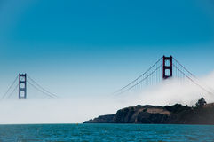 Golden Gate Bridge. The Golden Gate Bridge viewed whilst sailing on the Bay Royalty Free Stock Photo