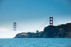 Golden Gate Bridge. The Golden Gate Bridge viewed whilst sailing on the Bay Royalty Free Stock Image