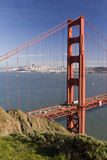 Golden Gate Bridge. From the Marin Headlands Royalty Free Stock Photo