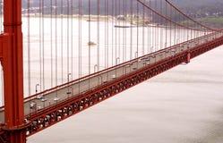 The golden gate bridge. Closeup on the golden gate bridge Royalty Free Stock Photos