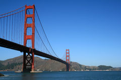 Golden Gate Bridge. The famous Golden Gate Bridge in San Francisco California Stock Photo