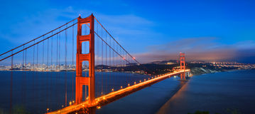 Golden Gate Bridge. Is one of the famous landmarks in San Francisco, California, United States. It's very beautiful in night with all the light on Royalty Free Stock Image