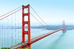 Golden gate bridge. San Francisco skyline and the Golden Gate Bridge stock photography
