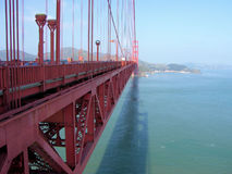 On the Golden Gate Bridge Stock Images