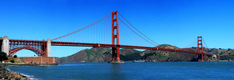 Golden Gate Bridge. In San Francisco - California royalty free stock images