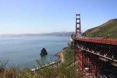 Golden Gate Bridge. Scenic view of Golden Gate bridge over San Francisco bay, California, U.S.A Royalty Free Stock Photo