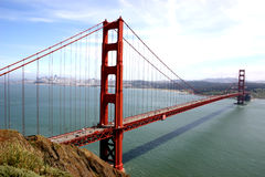 Golden Gate Bridge. Sunny day at the golden gate bridge stock images