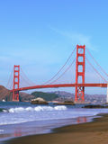 Golden Gate Bridge. A view of the Golden Gate bridge from Moss Beach, San Francisco, California Royalty Free Stock Photos