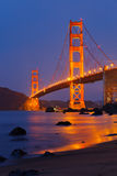 Golden Gate bridge. Shortly after sunset Royalty Free Stock Photos