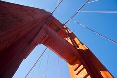Golden Gate Bridge. Pillar of the Golden Gate Bridge over blue sky Stock Images