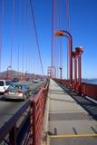 Golden Gate Bridge. Pedestrian walkway of the bridge, viewing northbound Stock Photography