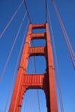 Golden Gate Bridge. Pillar of the Golden Gate Bridge over blue sky Royalty Free Stock Images