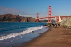 Golden Gate Bridge. Seen from Baker Beach, San Francisco Stock Photos
