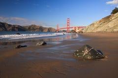 Golden Gate Bridge. Seen from Baker Beach, San Francisco Royalty Free Stock Photos