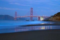 Golden Gate bridge. View of famous San Francisco Golden Gate bridge from baker beach Royalty Free Stock Photos