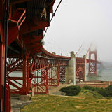 The Golden Gate Bridge. Square shot of the bridge in HDR Royalty Free Stock Images