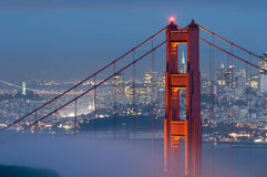 Golden Gate Bridge. Image of Golden Gate Bridge with San Francisco skyline in the background Stock Image