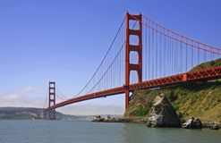 Golden Gate Bridge. In San Francisco under a beautiful blue sky Royalty Free Stock Photography