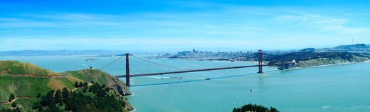 Golden Gate Bridge. And San Francisco Bay Royalty Free Stock Photo
