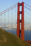 Vertical Golden Gate Bridge San Francisco Backgrou Royalty Free Stock Images
