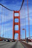 On the Golden Gate bridge stock photo