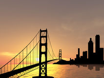 Golden Gate bridge. Golden Gate brigge near San Francisco Stock Photos