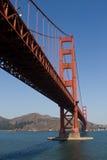 Golden Gate Bridge. Midday with blue sky Stock Photos