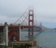 Golden Gate Bridge. Disappearing into the fog Royalty Free Stock Photography
