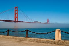 Golden Gate Bridge. The Golden Gate Bridge in San Francisco, California, USA Royalty Free Stock Image