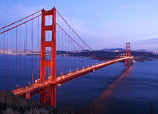 Golden Gate Bridge. At Dusk, San Francisco Royalty Free Stock Photography