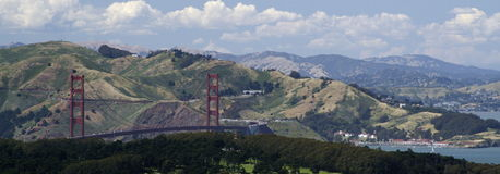 Golden Gate Bridge. VIew of Golden Gate from Twin Peaks Royalty Free Stock Images