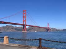 Golden Gate Bridge. The famous Golden Gate Bridge from the beach Stock Photo