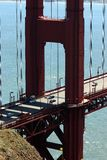 Golden Gate Bridge. Close up of the Golden Gate Bridge Royalty Free Stock Photos