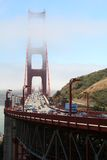 Golden Gate bridge. Traffic in the morning Stock Photo
