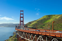 Golden Gate Bridge. View onto Golden Gate Bridge early in the morning royalty free stock images