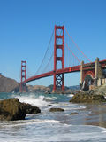 Golden Gate Bridge. From Bakers Beach in San Francisco, California Royalty Free Stock Image
