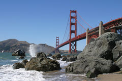 Golden Gate Bridge. From Bakers Beach in San Francisco, California Stock Photography