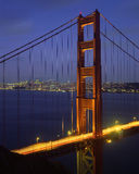 Golden Gate Bridge. The Golden Gate Bridge and San Francisco at night royalty free stock photos