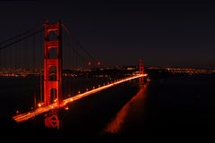 Golden Gate Bridge. The majical beauty of this engineered marvel royalty free stock images