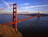 Golden Gate Bridge 8. An evening image of The Golden Gate Bridge with San Francisco in the background Royalty Free Stock Photo