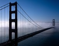 Golden Gate Bridge. A View of Golden Gate Bridge with fog Stock Image