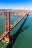 Golden Gate Bridge from Above. Aerial view of Golden Gate Bridge, San Francisco Royalty Free Stock Photo