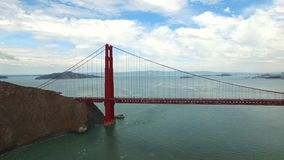 Golden Gate Bridge aerial video stock footage