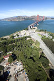 The Golden Gate Bridge Aerial view Stock Photography
